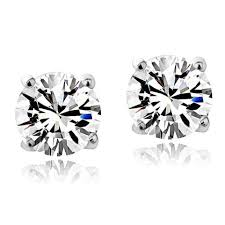 stud earrings images sterling silver birthstone 6mm stud earrings made with