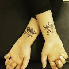 initial crown tattoo this would be cute with my kids initials a