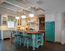 turquoise kitchen island retro kitchen style home bunch interior design ideas