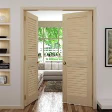 Louver Interior Door Louvered Interior Doors Half Louver 1 Panel Unfinished Pine Wood