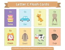 printable letter c flash cards
