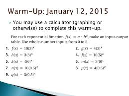 input output tables calculator warm up january 7 2015 determine whether each table below