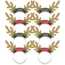 antler tiaras santa u0027s reindeer pack 8 pk the party bazaar