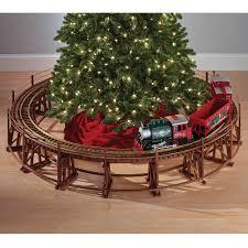 the manhattan railway christmas tree train trestle hammacher