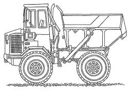 monster dump truck in digger coloring page color luna