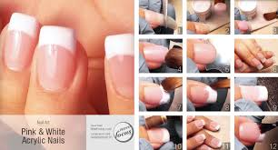 pink u0026 white acrylic nails now focus
