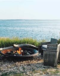 floating fire pit creative outdoor spaces martha stewart