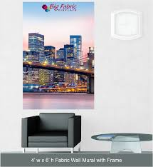 big fabric wall mural compact 4 x 6 fabric wall mural with aluminum frame