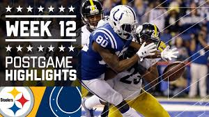 steelers vs colts nfl on thanksgiving week 12 highlights
