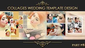 elegant inspiration collages album wedding photoshop part 5 youtube