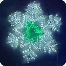 outdoor hanging snowflake lights party decoration decorations wedding light snowflake led