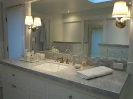 French Bathroom Light Fixtures by Bathroom Cabinets Traditional Master Bathroom With Carrara