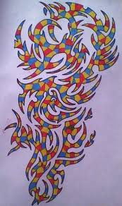 multi colour tribal by gbftattoos on deviantart