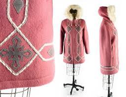 free u s ship vintage inuit coat eskimo coat pink