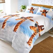 Giraffe Bed Set Animal Single Duvet Covers Dogs Elephant Giraffe Orangutan