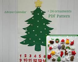 pdf pattern 24 advent ornaments pattren christmas ormaments
