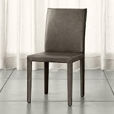 Leather Parson Dining Chairs Armless Leather Parson Dining Chair