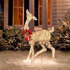 twinkling lighted reindeer family improvements catalog