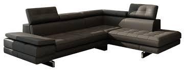 Modern Bonded Leather Sectional Sofa Divani Casa Evangeline Modern Sectional Sofa Dark Grey Bonded