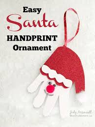 25 unique santa handprint ornament ideas on