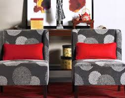chair green accent chairs living room beautiful red wingback