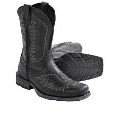 cowboy boots for men square toe black