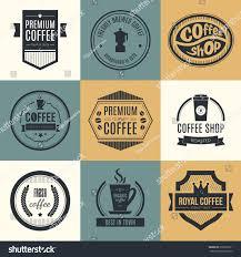 vector set coffee shop logos restaurant stock vector 238562611
