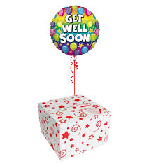get well soon and balloons get well soon balloons in a box delivery ireland
