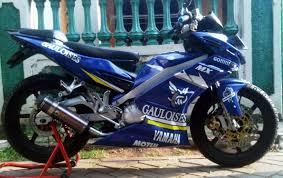 otomotif draq modifikasi jupiter mx warna biru motor gp