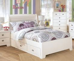 White Wood Bed Frame Full Size White Painted Oak Wood Bed Frame With Drawers Of