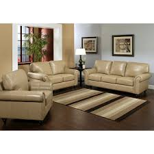 Abbyson Living Leather Sofa Contemporary Design Top Grain Leather Living Room Set Strikingly