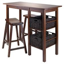 winsome trading egan 5 piece dining table set with saddle seat