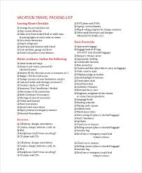 sample packing list 7 documents in word pdf