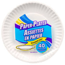 paper plates bulk the home store 9 white paper plates 40 ct packs at