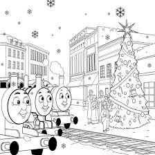 free printable thomas train coloring pages kids christmas