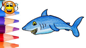 coloring pages for kids shark coloring for kids bibabibo youtube