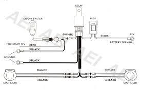 led hid spot work driving light bar wiring loom harness 12v 30a