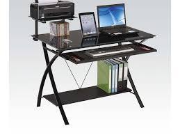 Acme Furniture Amazon Com Acme Furniture 92078 Erma Computer Desk Black