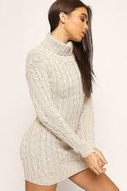 jeanne cable knit polo neck dress wearall