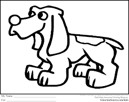 cute coloring page puppy ginormasource kids