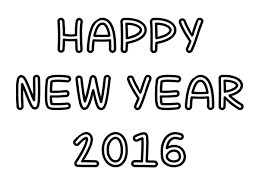 new year 2016 black and white clipart