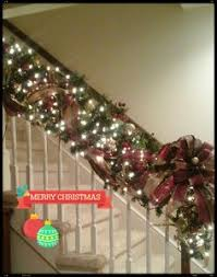 stairway garland and any 3ft stair post swag banister