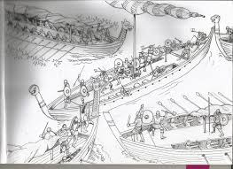 viking sea battle sketch by ga ren on deviantart
