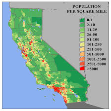 california map population density best photos of california population density map california