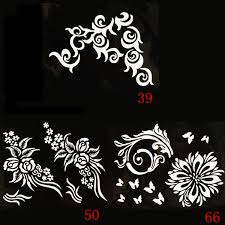 2 19 heart flower tattoo stencil templates mehndi henna art