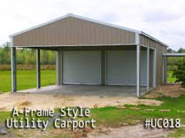 Building An Attached Carport Gatorback Carports U2013 Combo Units Carports With Storage