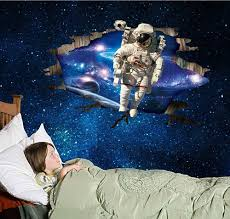 astronauts wall stickers home decor boys room wall decals astronauts wall stickers