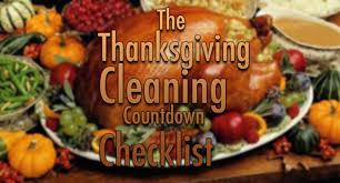 the thanksgiving cleaning countdown checklist aa chem
