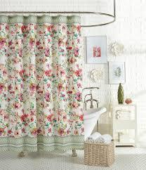 jessica simpson watercolor garden floral u0026 paisley shower curtain
