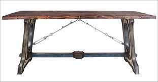 Esszimmertisch Industriedesign Industrie Design Esstisch Tisch Massiv Holz Eisen Look Loft Möbel